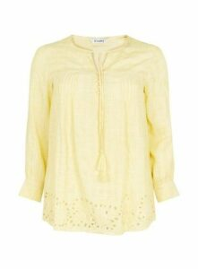 Yellow Pintuck Blouse, Yellow