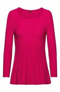 Slim-fit super-stretch sweater with peplum hem