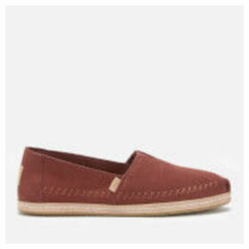 TOMS Women's Suede Alpargata Espadrilles - Muscat - UK 8 - brown/orange