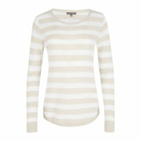 Natural Marl Linen Mix Striped Jumper