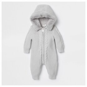 River Island Baby Grey knitted all in one