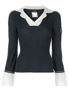 Chanel Pre-Owned layered shirt-effect jumper - Blue