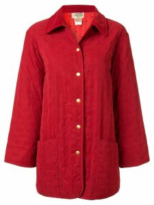 Hermès Pre-Owned quilted short coat - Red
