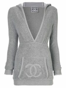 Chanel Pre-Owned CC logo hoodie - Grey