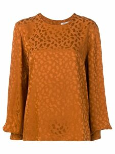 Givenchy Pre-Owned 1980's long sleeve pattern top - ORANGE