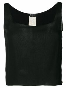Chanel Pre-Owned 2000's plain top - Black