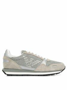 Emporio Armani glitter logo sneakers - Grey