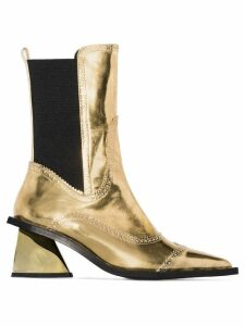 Marques'Almeida Gold 65 metallic Western-style leather boots