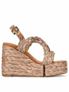 Clergerie Ally wedge sandals - Brown