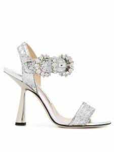 Jimmy Choo Sereno 100 sandals - Silver