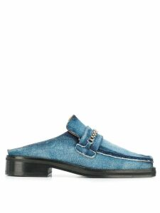 Martine Rose denim mules - Blue