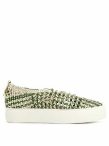 AGL woven contrast sneakers - NEUTRALS