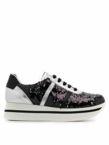 Tosca Blu sequinned platform sneakers - Black