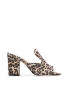 Paris Texas leopard 80 mules - NEUTRALS