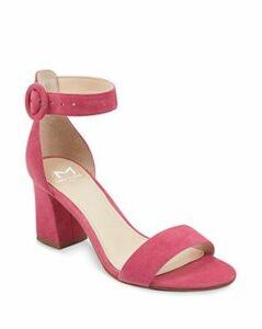 Marc Fisher Ltd. Women's Karlee Suede Block Heel Sandals