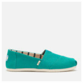 TOMS Women's Canvas Alpargata Espadrilles - Teal Heritage - UK 4 - Blue