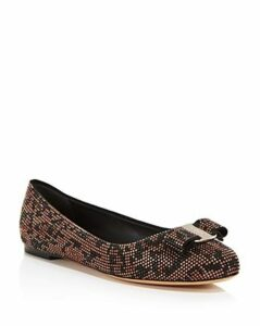 Salvatore Ferragamo Women's Varina Mos Embellished Leather Ballet Flats
