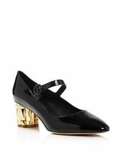 Salvatore Ferragamo Women's Ortensia Geometric Block-Heel Pumps