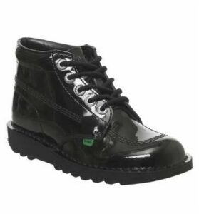 Kickers Kick Hi (g) BLACK PATENT
