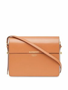 Burberry Large Two-Tone Leather Grace Bag - Brown