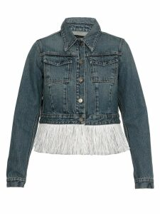 Alanui Hawaiian Cropped Jeans Jacket