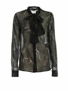 Saint Laurent Camouflage Print Blouse