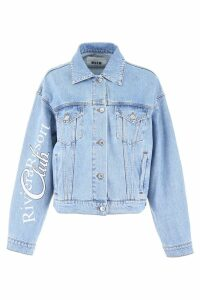 MSGM Printed Denim Jacket