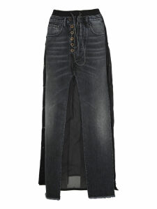 Unravel Unravel Project Long Layered Denim Skirt