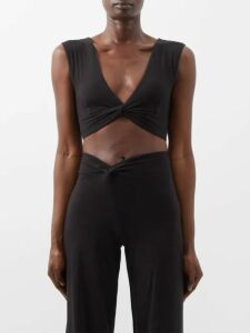 Palmer//harding - Habana Striped Linen Kaftan - Womens - Blue Stripe