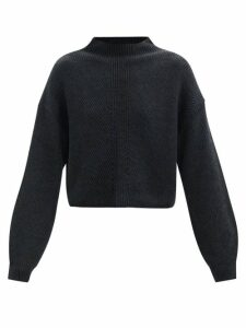 M.i.h Jeans - Arley Jacquard-striped Pleated-shoulder Shirt - Womens - White