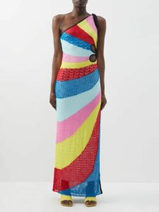 Sir - Cherie Eyelet-lace Cotton-poplin Peplum Blouse - Womens - Black