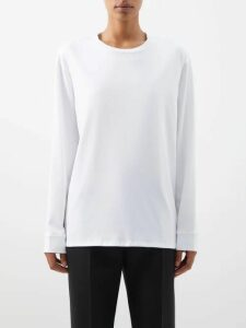 The Upside - Bondi Colour-block Cotton Sweatshirt - Womens - Burgundy Multi