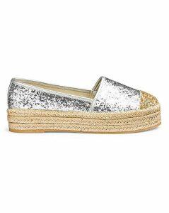 Romy Glitter Flatform Espadrille Wide