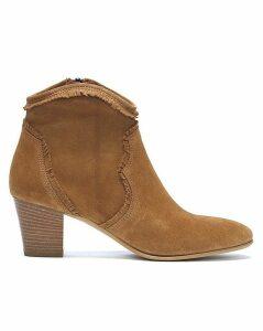 Daniel Lesma Suede Western Ankle Boots