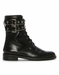 Daniel Whitfield Embellished Biker Boots