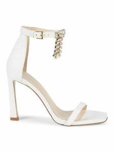 Crystal Fringe Stiletto Sandals