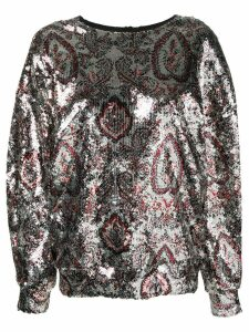 Isabel Marant sequinned paisley blouse - Metallic