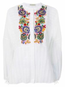 Etro peasant printed blouse - White