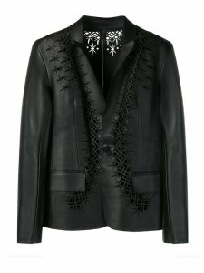 Haider Ackermann laser cut detail jacket - Black