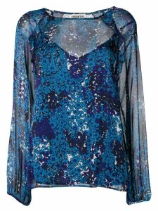 Essentiel Antwerp Savier patterned blouse - Blue