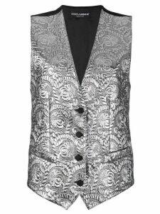 Dolce & Gabbana baroque waistcoat - SILVER