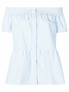 Red Valentino striped off-shoulder blouse - Blue