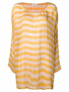 Mes Demoiselles striped long sweater - Yellow