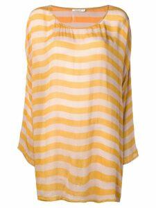 Mes Demoiselles striped long sweater - Yellow