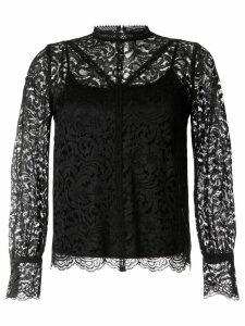 Loveless paisley lace blouse - Black