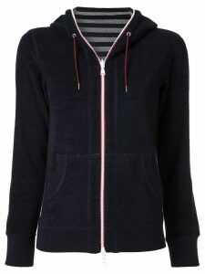 Loveless zipped fleece hoodie - Blue