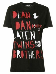 Dsquared2 Caten Twins print T-shirt - Black