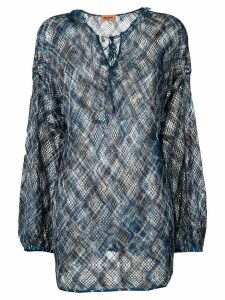 Missoni crochet knit tunic - Blue