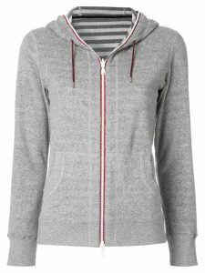 Loveless zipped fleece hoodie - Grey