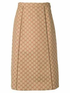 Gucci GG canvas skirt - NEUTRALS